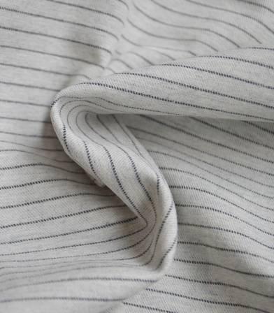Tissu flanelle de coton Stripes - gris clair