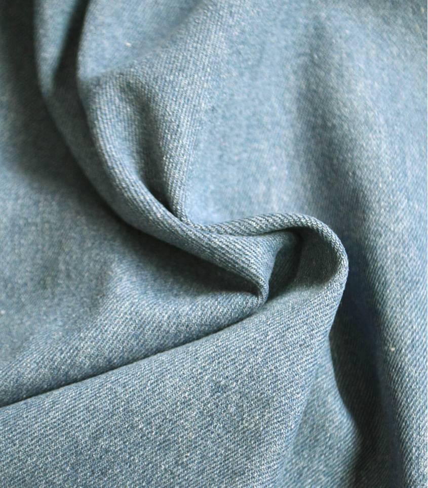 Tissu Heavy washed Denim - Worn blue