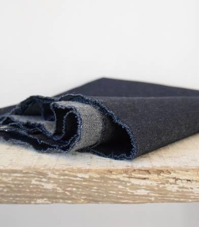 Tissu Denim Bleu foncé