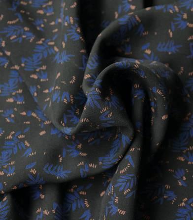 Tissu viscose Rizière blue