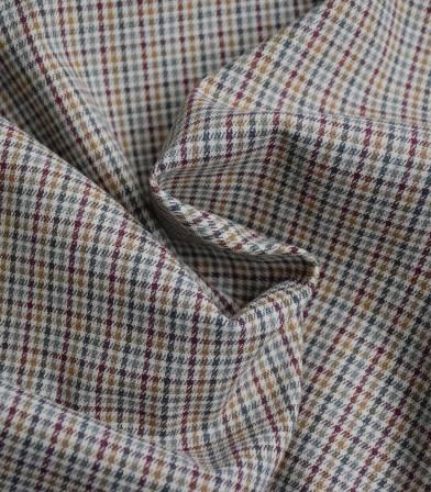 Tissu carreaux bordeaux anis gris