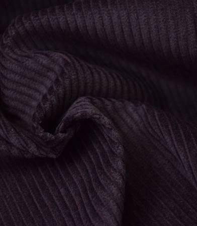 Tissu velours grosses côtes prune