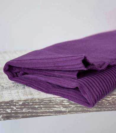 Tissu velours grosses côtes purple