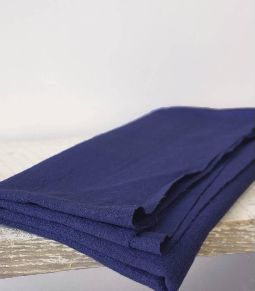Tissu Lin lavé bleu outremer