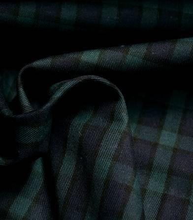 Tissu tartan Green Tiles