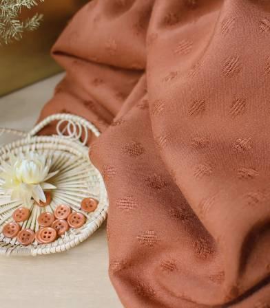 Tissu Diamond Chesnut