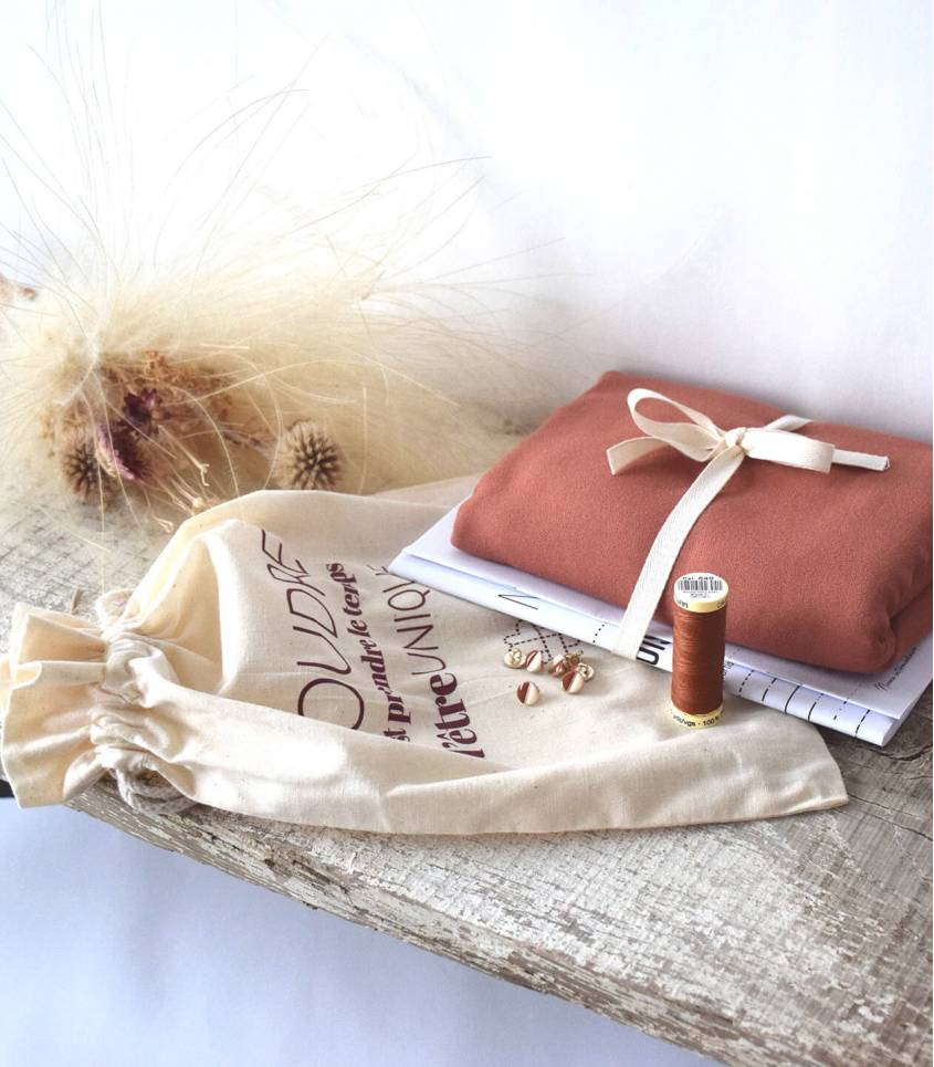 Box Ma blouse Croisette - Noisette