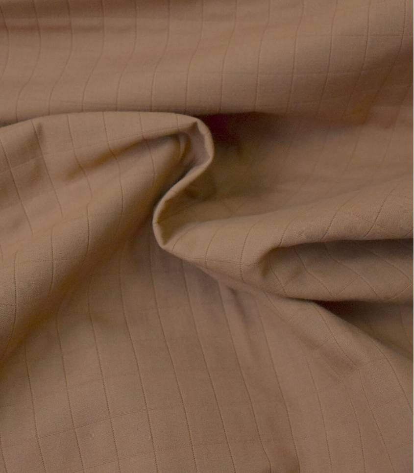 Tissu coton matelassé Tayio - Caramel