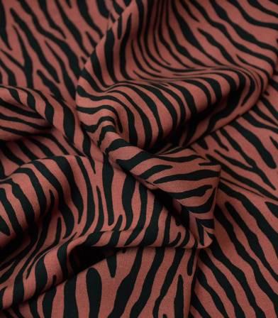 Tissu viscose Savane stripes - Sienne