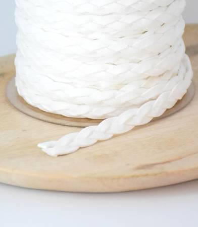 Cordelière Tresse suedine - Off white