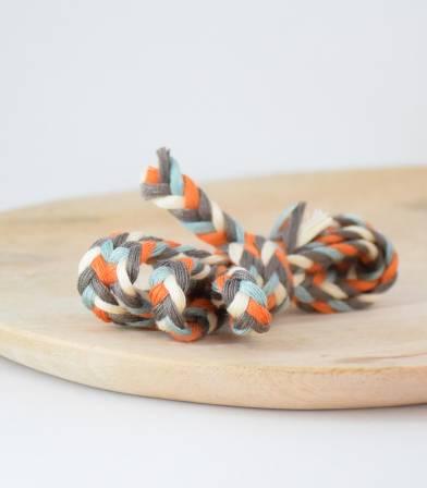 Cordelière Tresse coton - Multi Chocolate