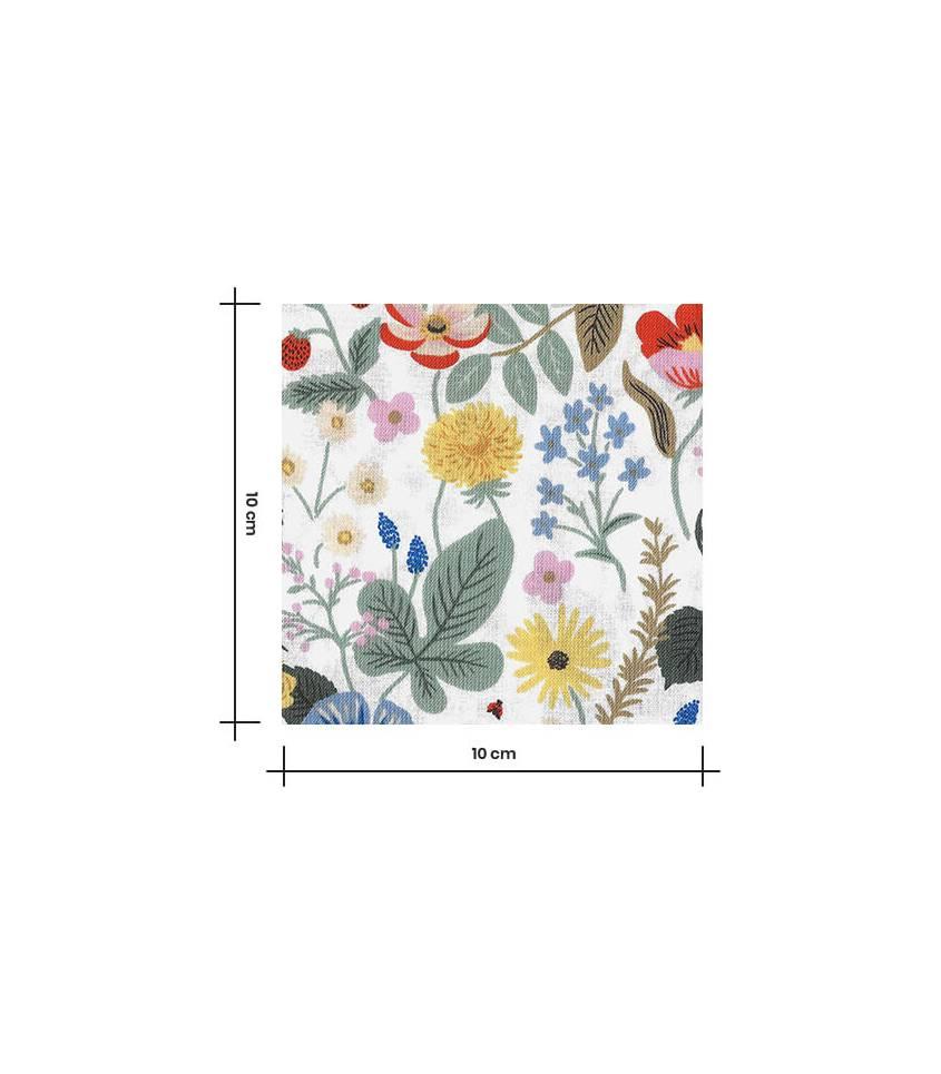 Tissu coton - Strawberry fields - Ivory