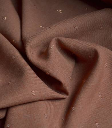 Tissu twill viscose - Metalic Dobby - Terra