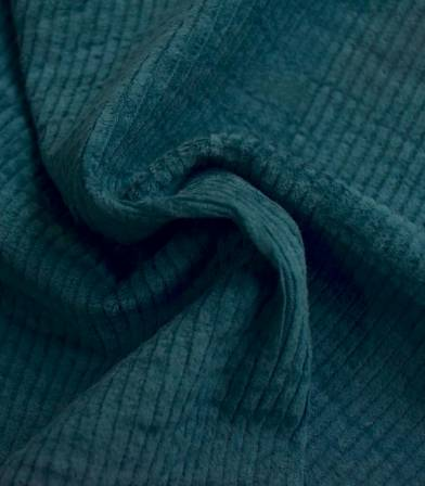 Tissu en velours côtelé elasthanne - Canard
