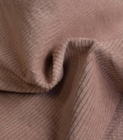 Tissu en velours côtelé elasthanne - Poudre