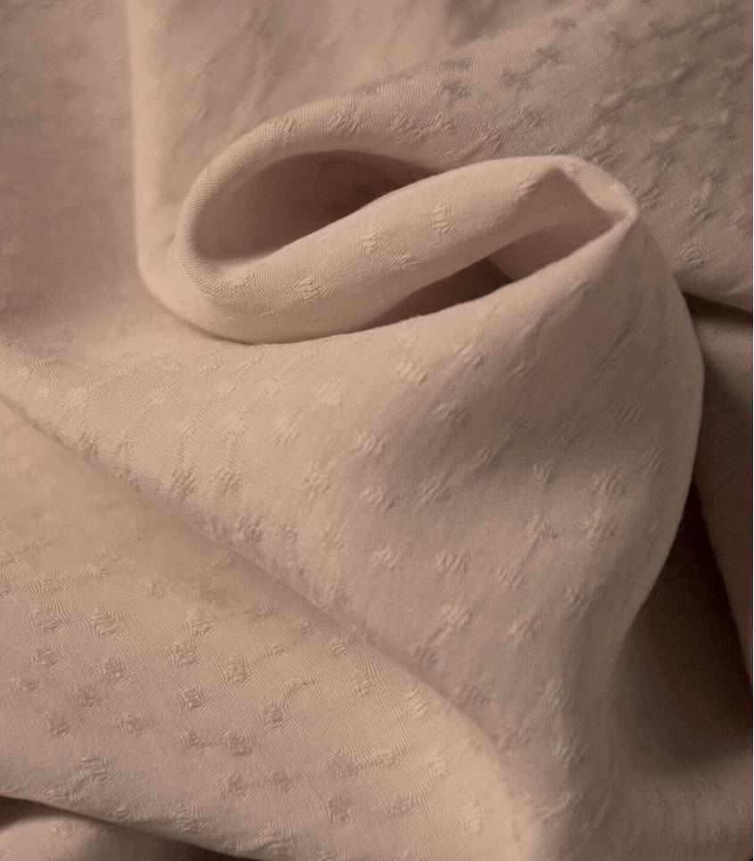 Tissu viscose Jaquard - Rice Piel