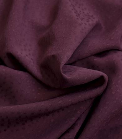 Tissu viscose Jaquard - Rice Aubergine