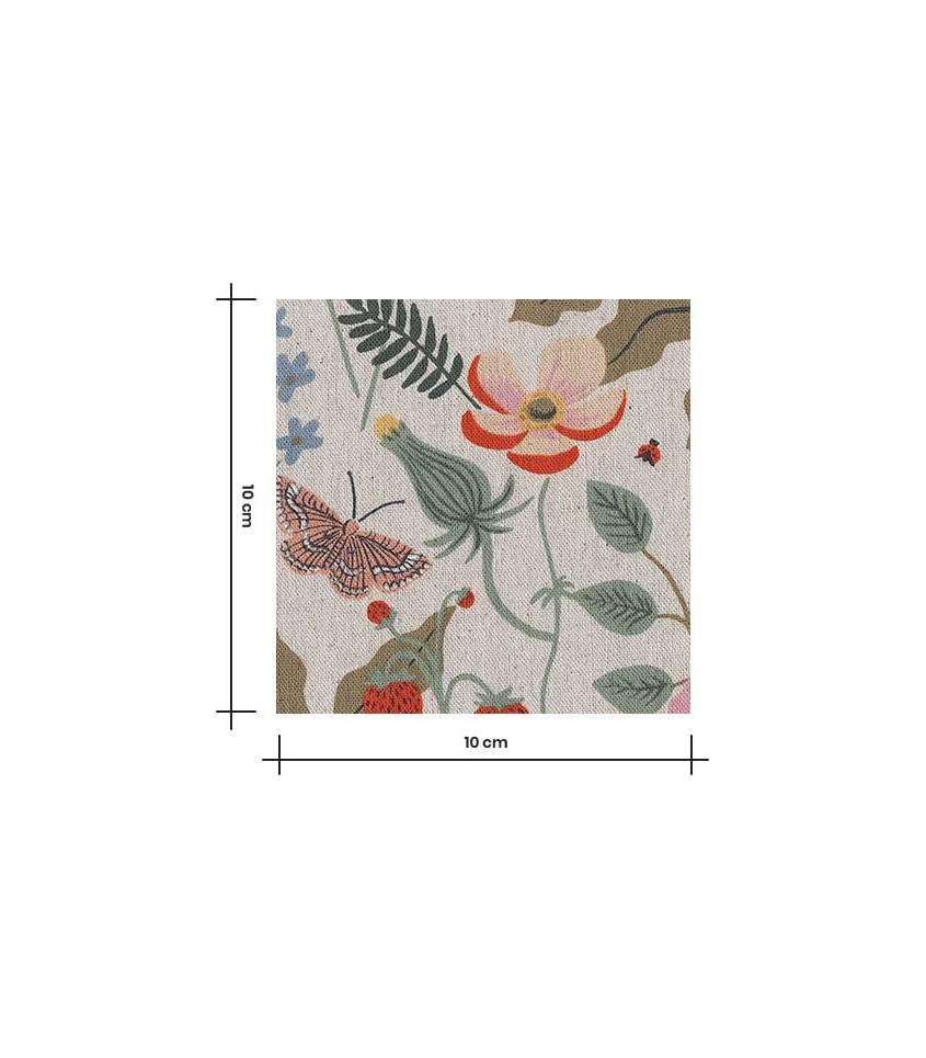 Tissu Canvas Strawberry Fields - Linen
