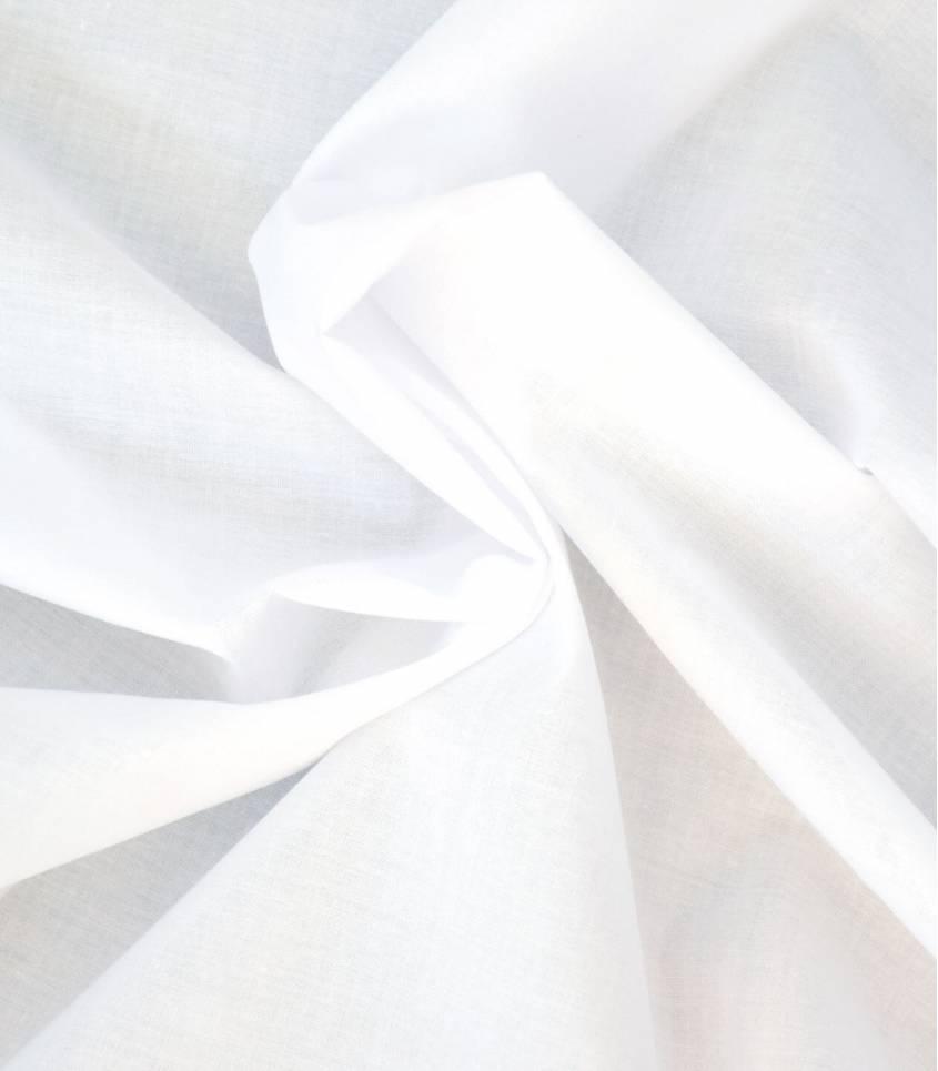 Voile de coton blanc