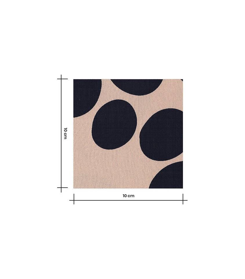 Tissu viscose - About a Dot Sienne
