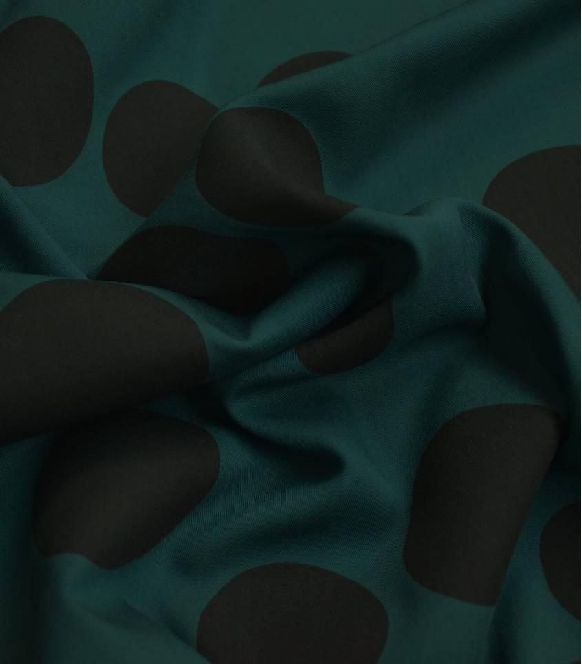 Tissu viscose - About a Dot Green