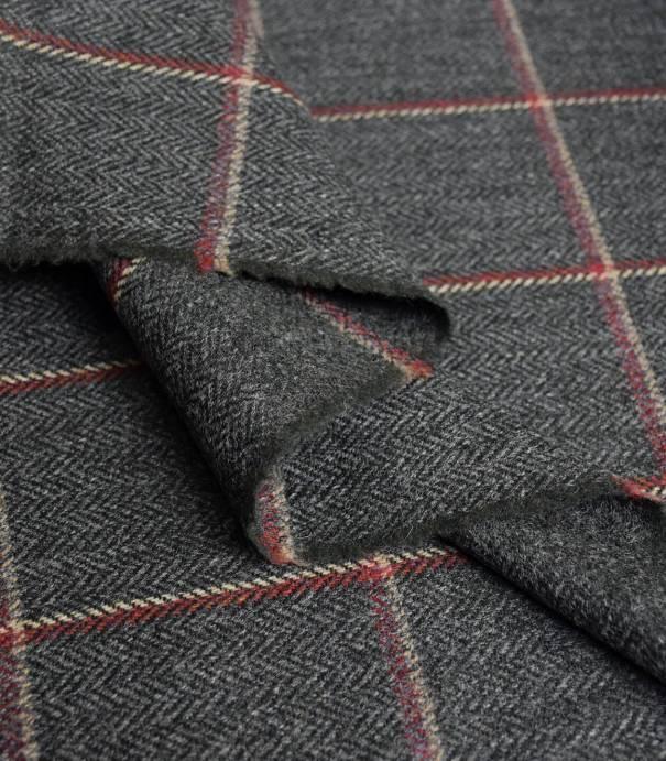 Tissu Lainage fin - Nelson grey