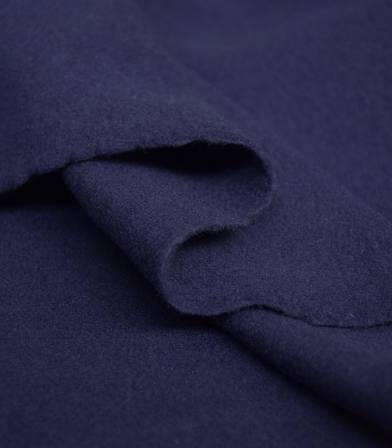 Tissu manteau - lainage blueberry