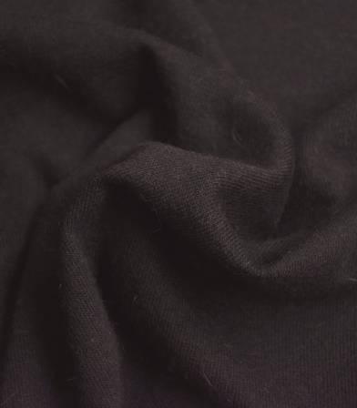 Tissu jersey Viscose Angora - chocolat
