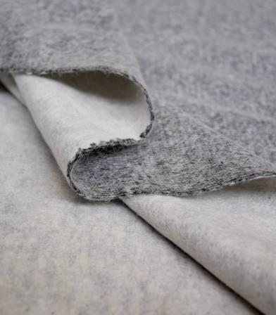 Tissu lainage maille double face - Light Grey