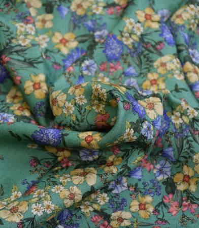 Tissu viscose Clarisse - Jade