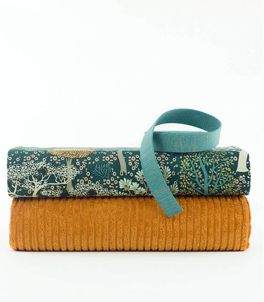 Tissu velours larges côtes - Brun Dunan