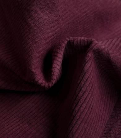 Tissu en velours côtelé elasthanne - Bordeaux