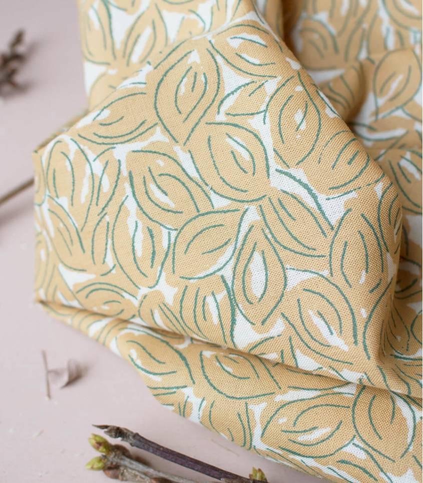 Tissu Petal Mustard