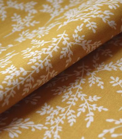 Tissu coton - Brins Ocre