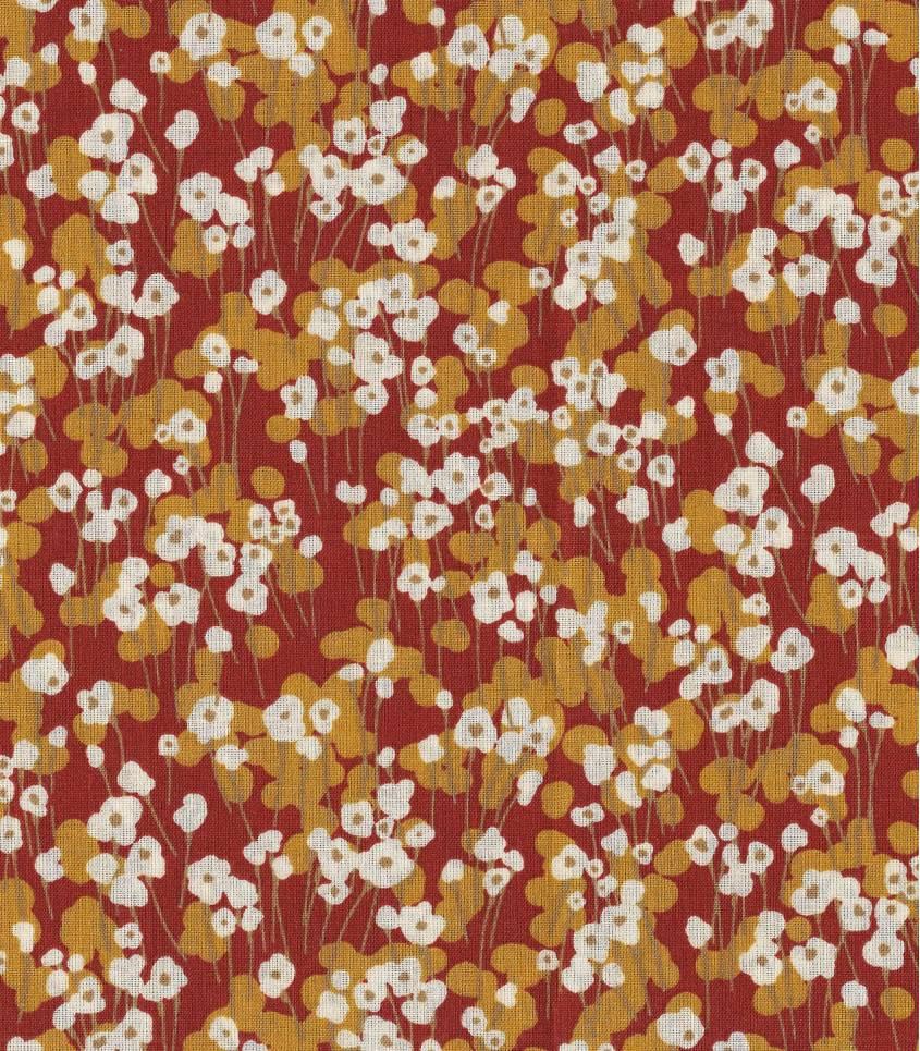 Tissu coton - Prairie Rousse