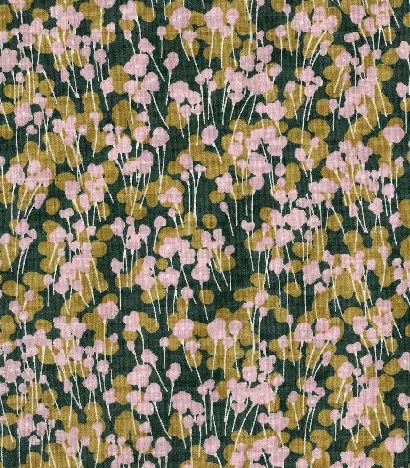 Tissu coton - Prairie Mousse