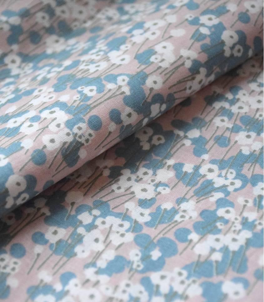 Tissu coton - Prairie Dragée
