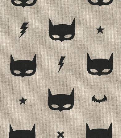 Tissu coton demi/natté super héros