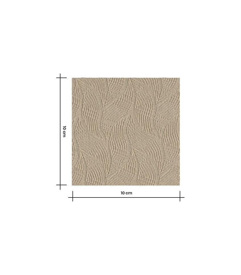 Tissu Jersey Bio - Jacquard Leaf - Dune