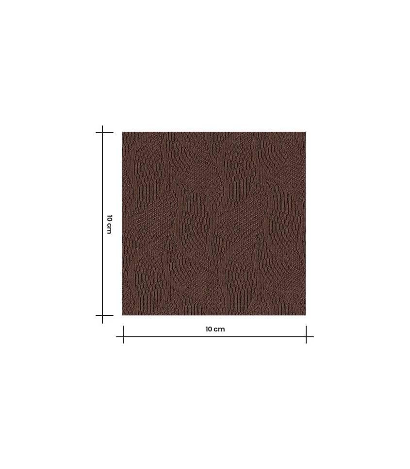 Tissu Jersey Bio - Jacquard Leaf - Dust Brown
