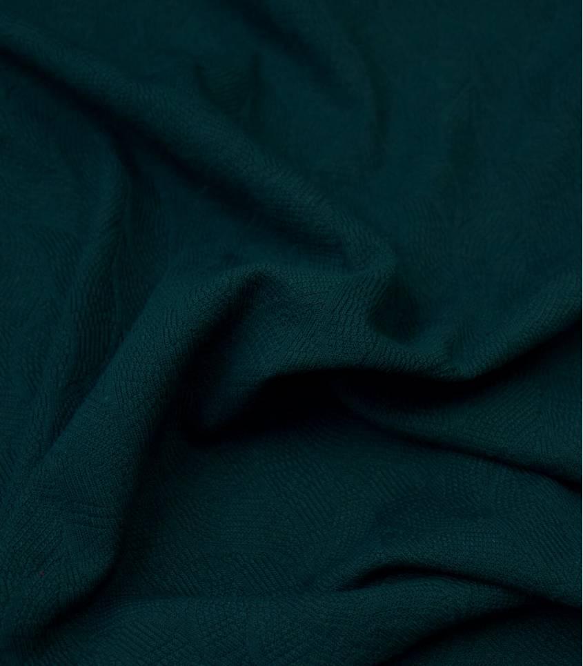 Tissu Jersey Bio - Jacquard Leaf - Bottle green