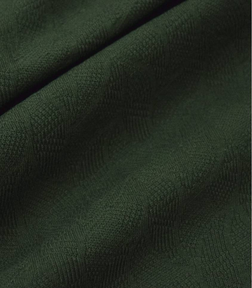 Tissu Jersey Bio - Jacquard Leaf - Green Khaki