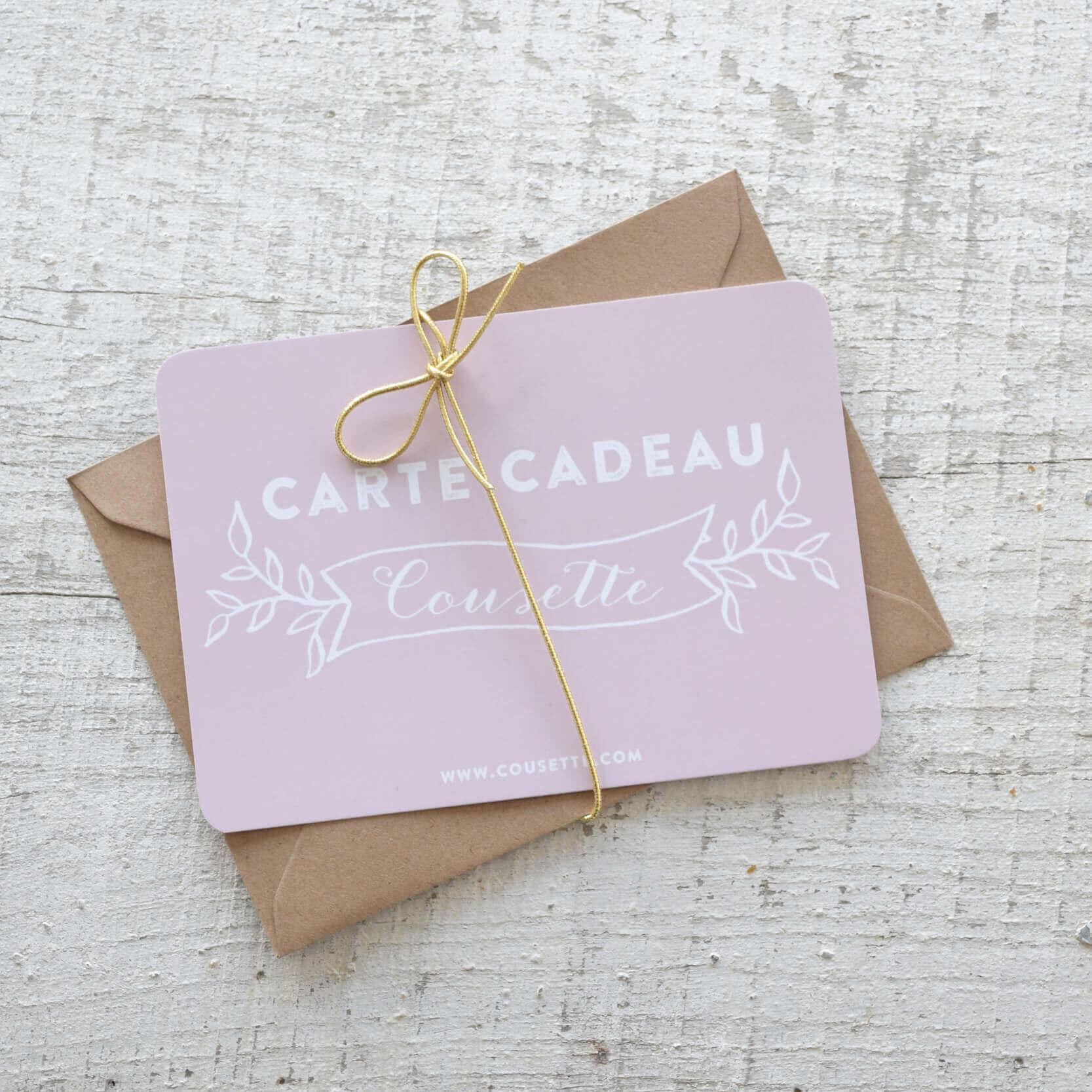 Carte cadeau couture