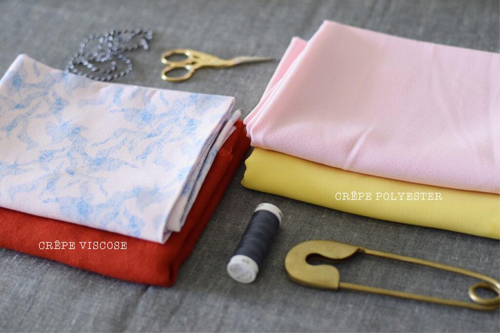 Viscose-crêpe-polyester