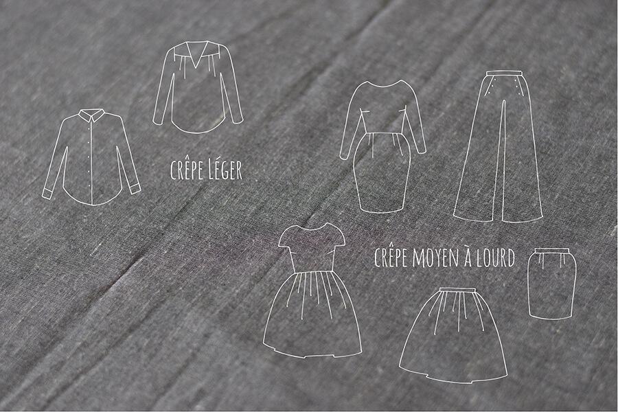 Vêtements crêpe